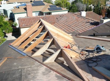 Awesome California Framing Dormer On New Roof